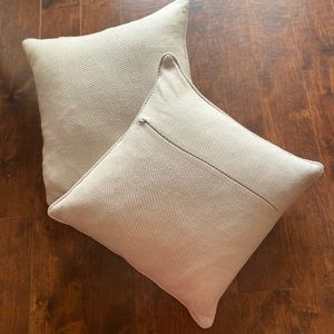 Cream Decorative Pillows (set of two)